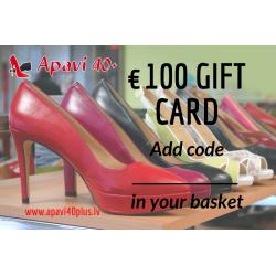 Elektroninė dovanų kortelė 100