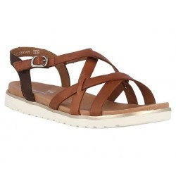 Brown sandals for women Remonte D4060-24