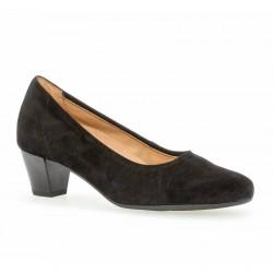 Sieviešu melnas zamšādas kurpes Gabor 56.180.47