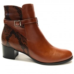 Women's autumn big size ankle boots PieSanto 205446 toffe