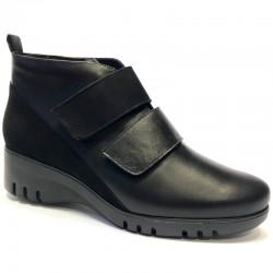 Store størrelser kvinners vinterstøvletter PieSanto 205902 natural negro
