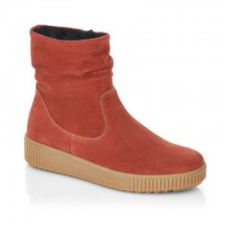 Ladies autumn big size red suede ankle boots Remonte R7993-38