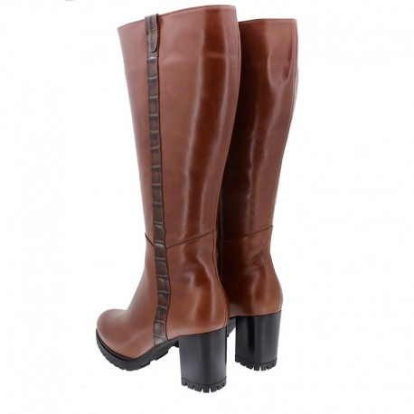 Sieviešu liela izmēra rudens zābaki ar platu stulmu (L) PieSanto 205437  toffe