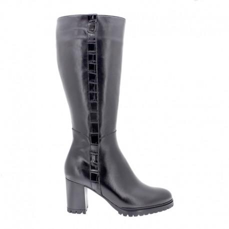 Women's autumn big size wide calf boots (L) PieSanto 205437 negro