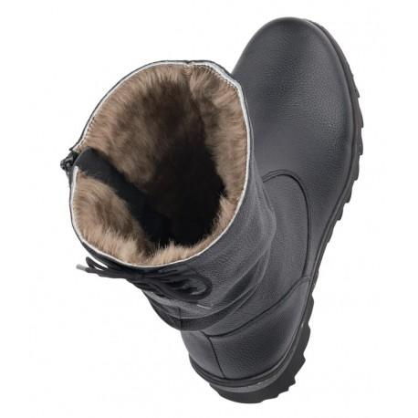 Liela izmēra ziemas puszābaki ar dabīgu kažokādu Remonte R8471-01