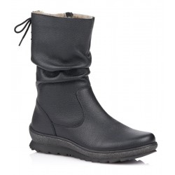 Big size winter ankle boots with genuine sheepskin Remonte R8471-01