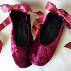 Made to order - handmade slippers Bordo