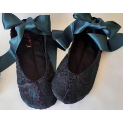 Made to order - handmade slippers Black