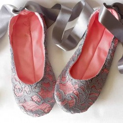 Made to order - handmade slippers Pink