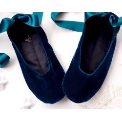 Laget på bestilling - håndlagde tøfler Blue