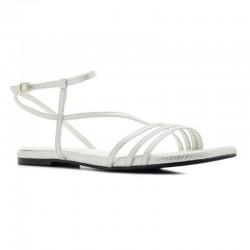 Hvit kvinners sandaler Andres Machado AM5462