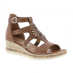 Brown wedge sandals Remonte D3053-24