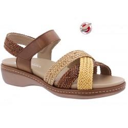 Sieviešu sandales platākai pēdai PieSanto 210809