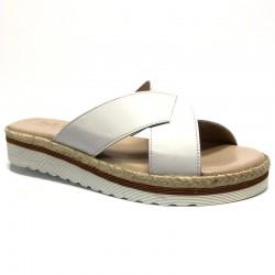 Women's white slide flip flops Bella B 5746.025