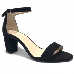 High-heel suede sandals. Big sizes. Bella b. 7006.032