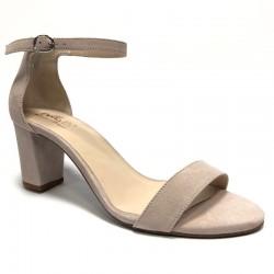 Semsket høy hæl sandaler. Store størrelser. Bella b. 7006.033