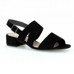 Black suede sandals Gabor 61.704.17