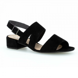 Semsket svart sandaler Gabor 61.704.17