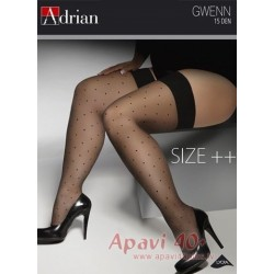 Gwenn big size stockings size 15 DEN