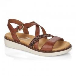 Brun kvinners sandaler Remonte D2063-24