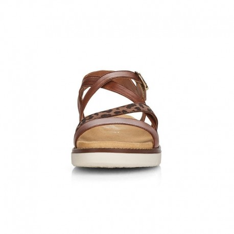Brown sandals for women Remonte D2063-24