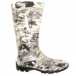 Women's rain boots 100P comics