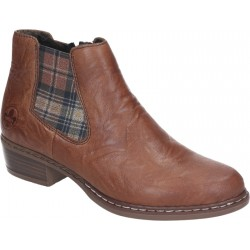 Brown spring/autumn low boots Rieker Y0894-22