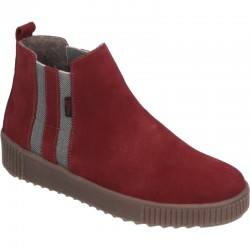 Ladies autumn red suede ankle boots Remonte R7989-35