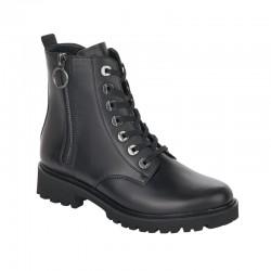 Black spring/autumn low boots Remonte D8671-01