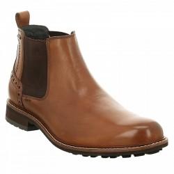 Men's big brown Chelsea autumn boots Josef Seibel 24750 cognac