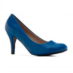 High-heel shoes Andres Machado AM422 soft azulon