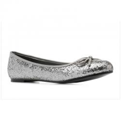 Ballerinas Andres Machado TG104 glitter plata