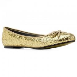 Ballerinas Andres Machado TG104 glitter oro