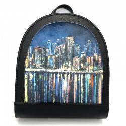 Backpack made from leatherette Sominta 30x27x11 1789 city