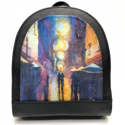 Backpack made from leatherette Sominta 30x27x11 1789 couple