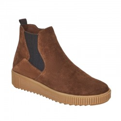 Ladies autumn brown suede ankle boots Remonte R7994-25