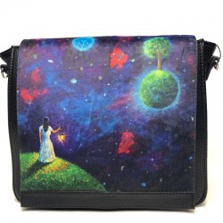 Women's shoulder bag  from leatherette 22x30x10 1790 cosmos