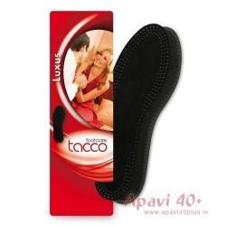 Tacco Melnas liela izmēra ādas iekšzoles
