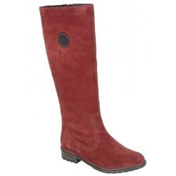 Замшевые зимние сапоги на полную икру с натуральной шерстью Remonte R3388-14