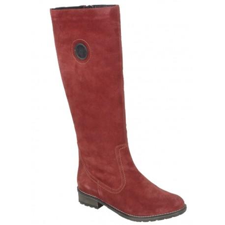 cae4a40ce Замшевые зимние сапоги на полную икру с натуральной шерстью Remonte R3388-14