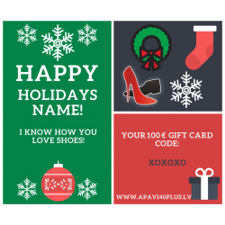 Individualizuota elektroninė Kalėdų dovanų kortelė