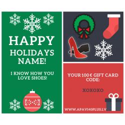 Personlig elektronisk julegavekort
