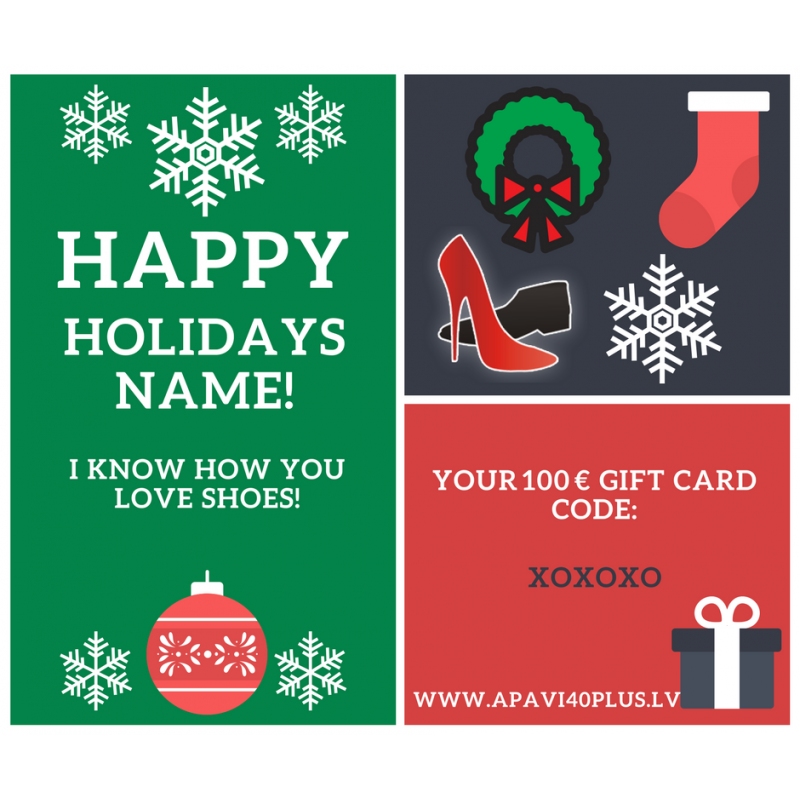Personalized electronic Christmas Gift Card - Apavi40plus
