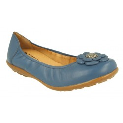 Extra wide fit women's flats DB Shoes 70493X 6V