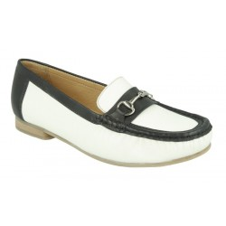 Extra wide fit women's moccasins DB Shoes 70350W 6V