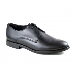 Classic black men's shoes in big sizes 8710 black