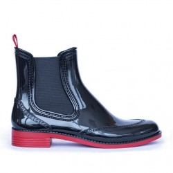 Low Chelsea Rain Boots 160P black and pink