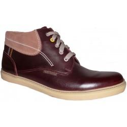 Didelių dydžių vyriški žieminiai batai PS-291 kasztan