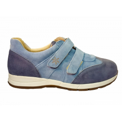 Suede/nubuck sneakers for wider feet DB Shoes 78459X 2 V