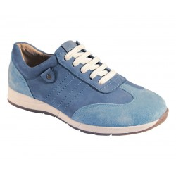 Suede/nubuck sneakers for wider feet DB Shoes 79397X 2 V